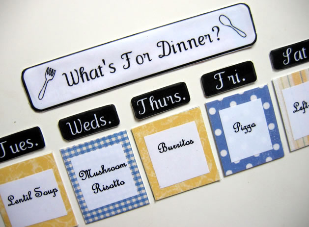 how to magnetic meal planner