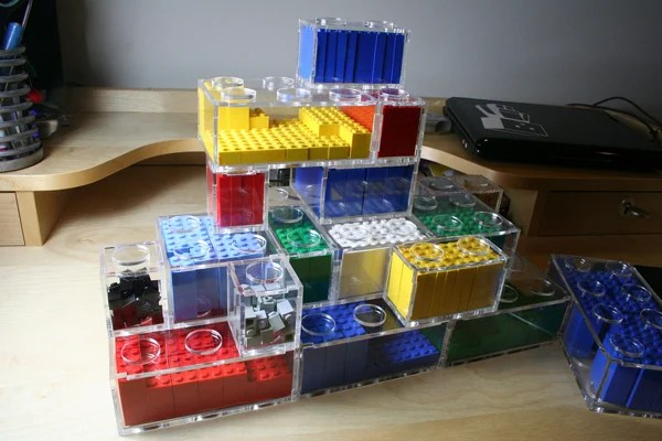Who Really Wants An Ugly Bin Of Lego In Their Living Room? NYC Resistor  Member Kellbotu0027s Meta Lego Containers Are ...