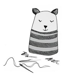 Crochet Kitty Illustration