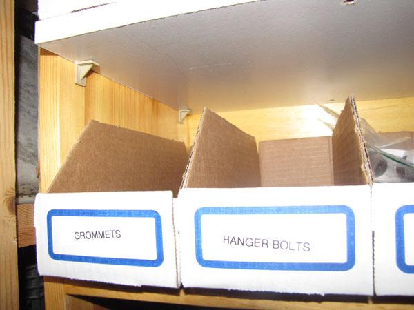 I <3 cardboard parts bins.