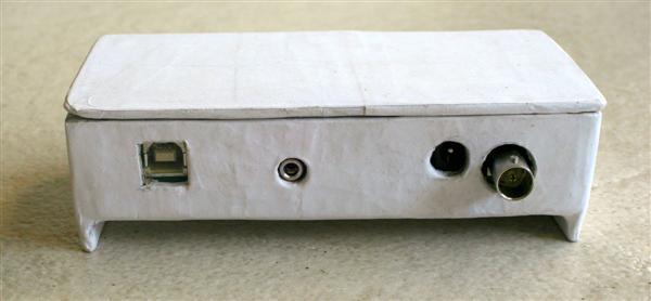 Handmade paper-pulp electronics enclosure by Sivan Toledo.