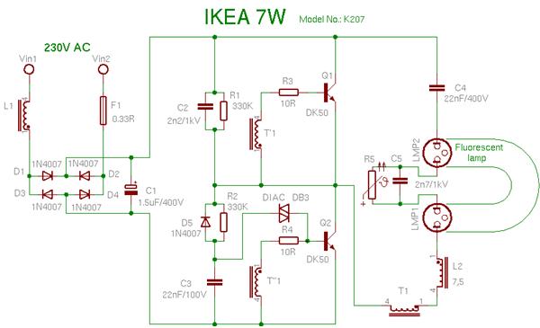 Cfl Ballast Wiring Diagram Wiring Diagrams Best