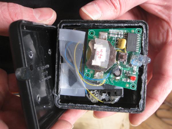 Car-B-Gone IR remote trigger (internals)