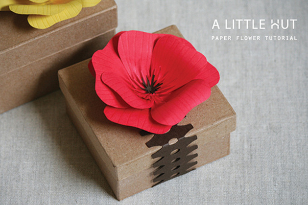 Paper flower tutorial make patricia of a little hut shares her technique for making this beautifully detailed paper flower i love the scoring of the cardstock and the quilled center mightylinksfo