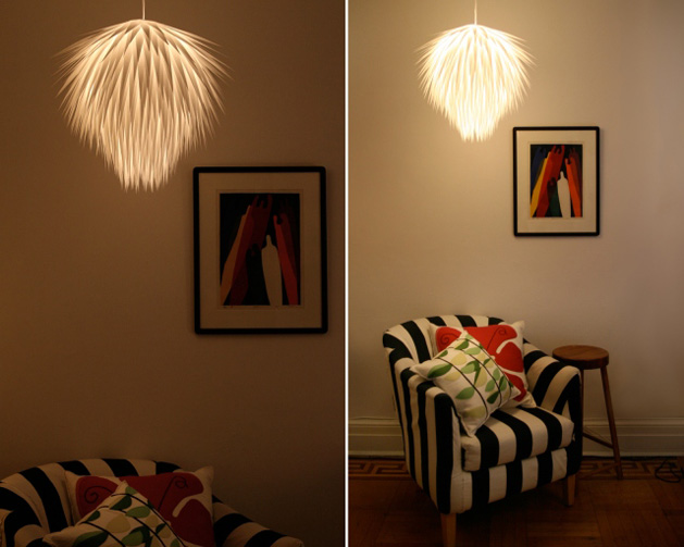 Paper starburst pendant lamp make paper starburst pendant light diy 2g mozeypictures Image collections