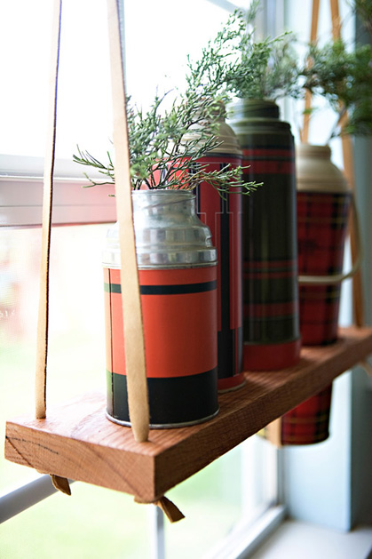Hanging wooden display shelf make - How to hang plants in front of windows ...
