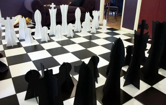 How To Giant Chess Set Make