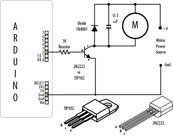 A typical schematic diagram