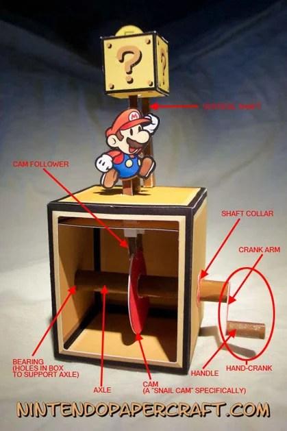 Mario Brothers Papercraft Automaton