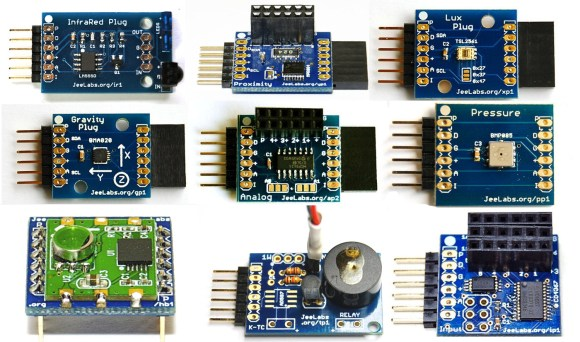 A collection of JeeLabs sensor plugs