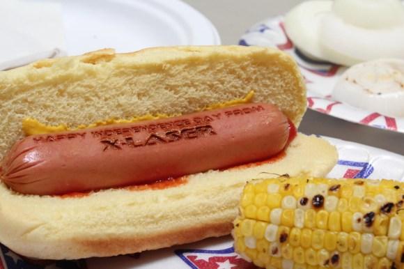 Laser Engraved Hot Dog