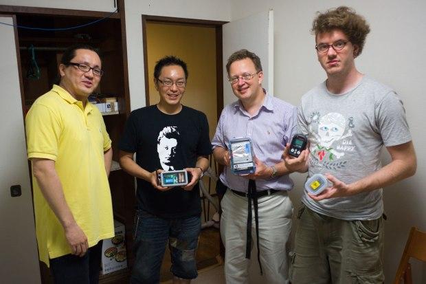 Safecasters (from left to right) Jun Nakamura, Akiba, Pieter Franken, and Robin Scheibler.