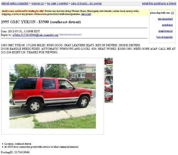 Metro Cars Detroit >> Craigslist Detroit Metro Cars And Trucks By Owner Best