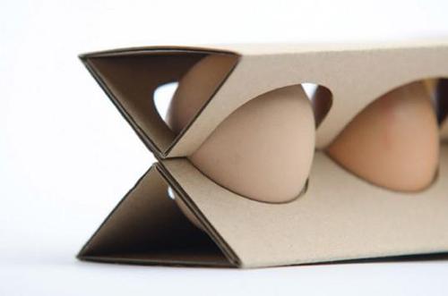 New egg carton design uses less cardboard make for How to make paper egg trays