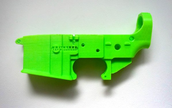 3D-printed AR-15 lower receiver