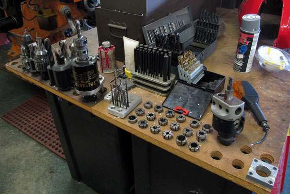 An assortment of bits for fabricating any project.