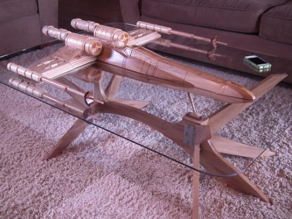 X-Wing Coffee Table, by Barry Shields