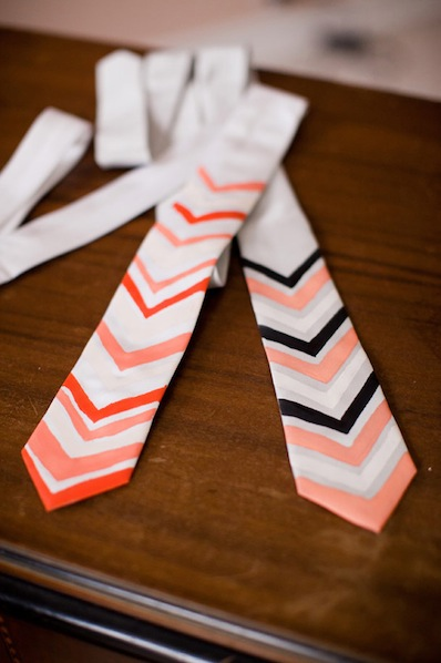 weddingobsession_DIY_chevron_tie