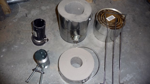 Paint Can Furnace with Accessories for Casting Aluminum