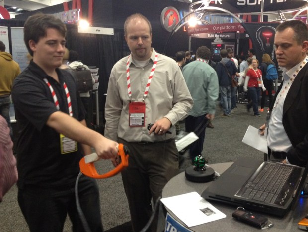 Palmer Luckey, developer of the Oculus Rift, tries his hand at Tactical Haptics