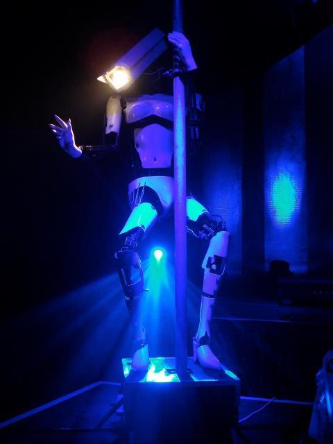 giles walker pole dancing robot