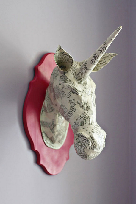 paper mache animal heads-1