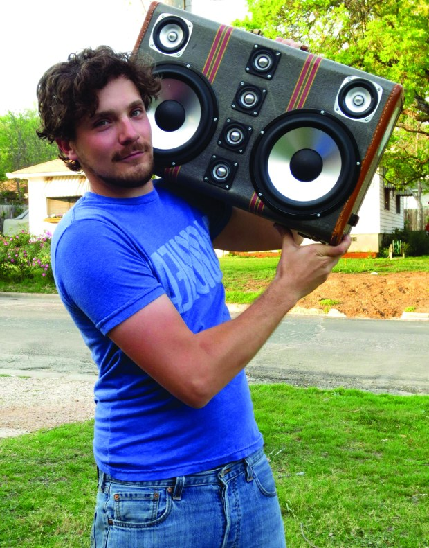 build an epic boombox out of that old suitcase [ 1200 x 1531 Pixel ]