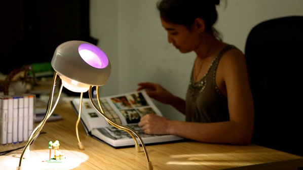 A bright task light + customizable ambient light