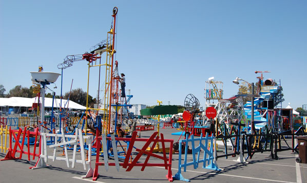 Life Size Mousetrap under construction on Friday
