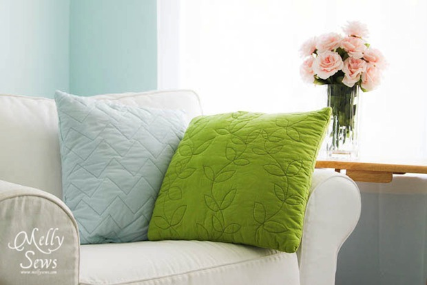 How-To: Easy Quilted Pillows