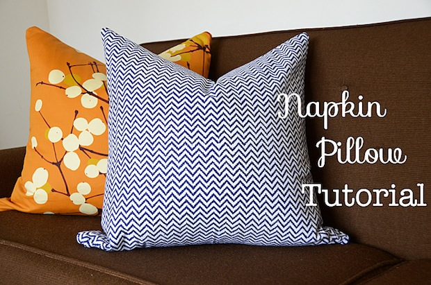How-To: Cloth Napkin Throw Pillows