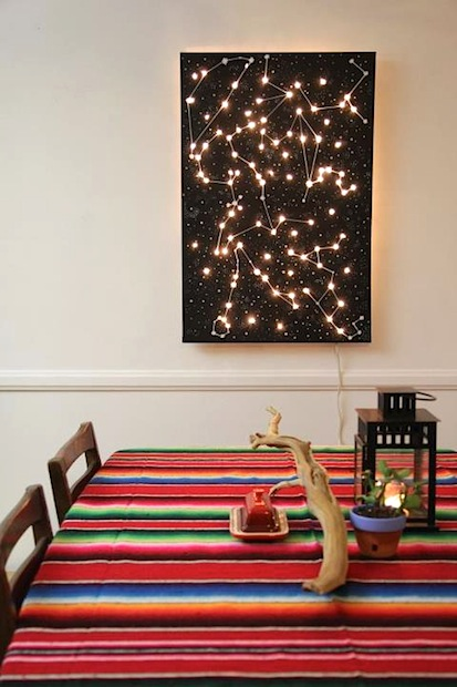 How To Diy Lighted Constellation Wall Art Make
