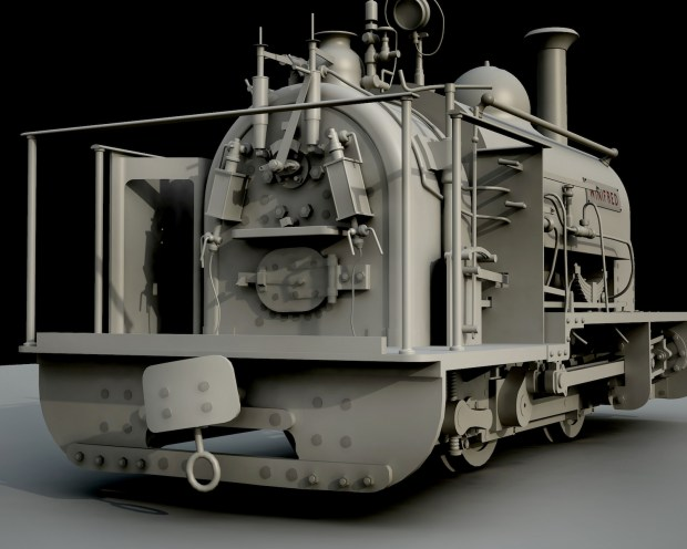 CAD model of Winifred from Penrhyn Quarry