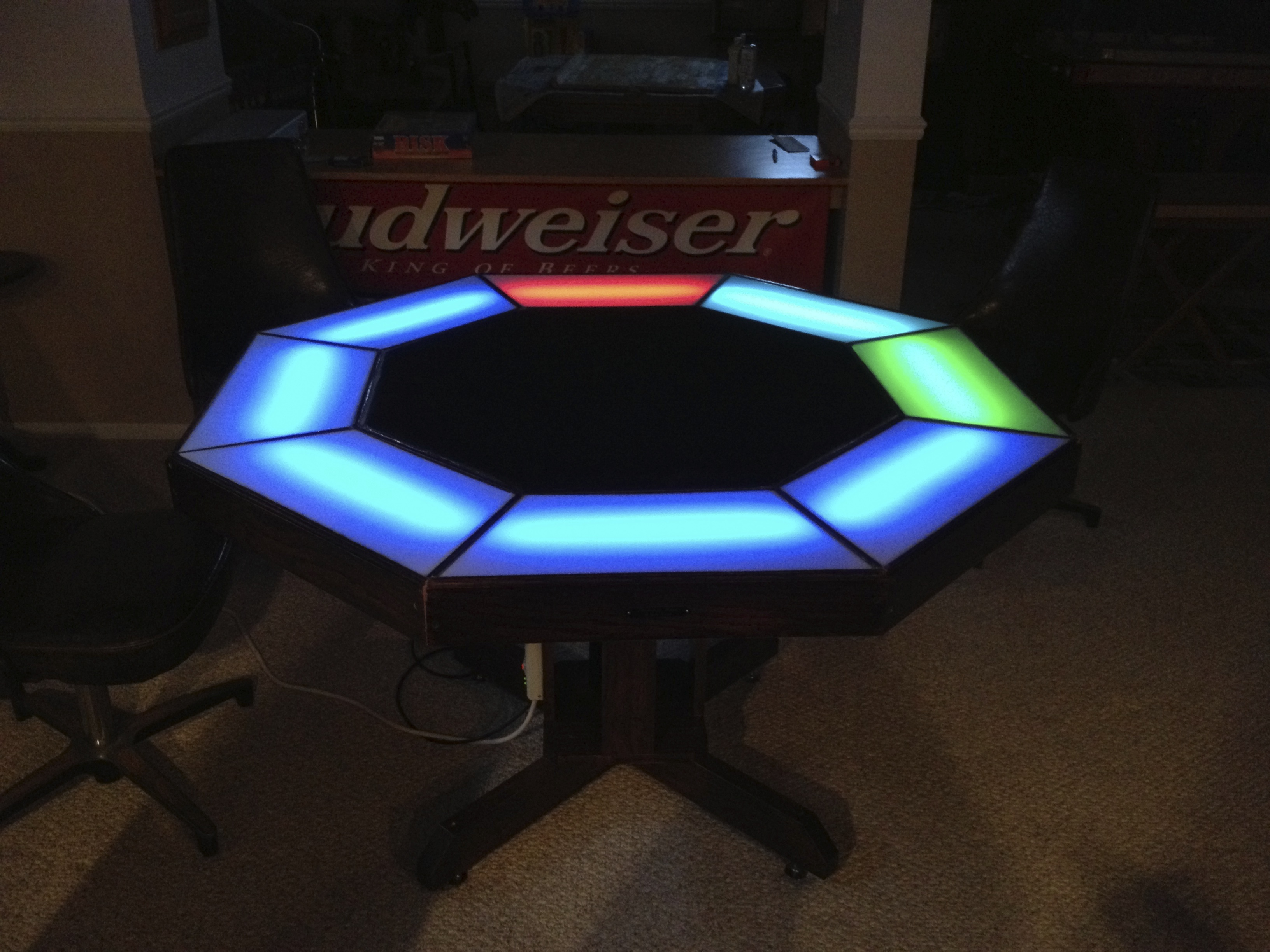Incredible Arduino Powered Poker Table Make Home Interior And Landscaping Ologienasavecom