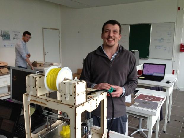 Julien Desprez of Dood in front of the Digital Object Maker