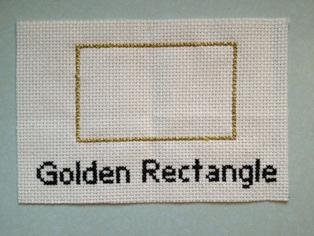 The golden ratio made into cross stitch. Photo: Jenny Williams