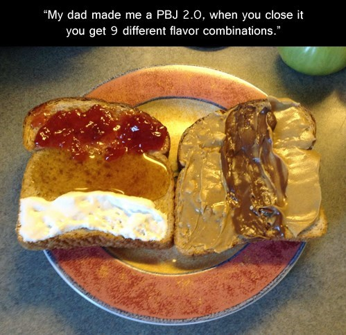 different ways of making a peanut butter and jelly sandwich Have you ever thought about how many different ways there are to make a peanut butter and jelly sandwich crunchy peanut butter or creamy seedless jelly or preserves.