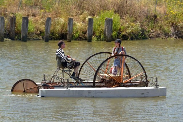 todd barricklow's pedal boat