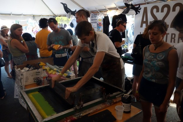 Live silkscreening provided by AS220 Labs.