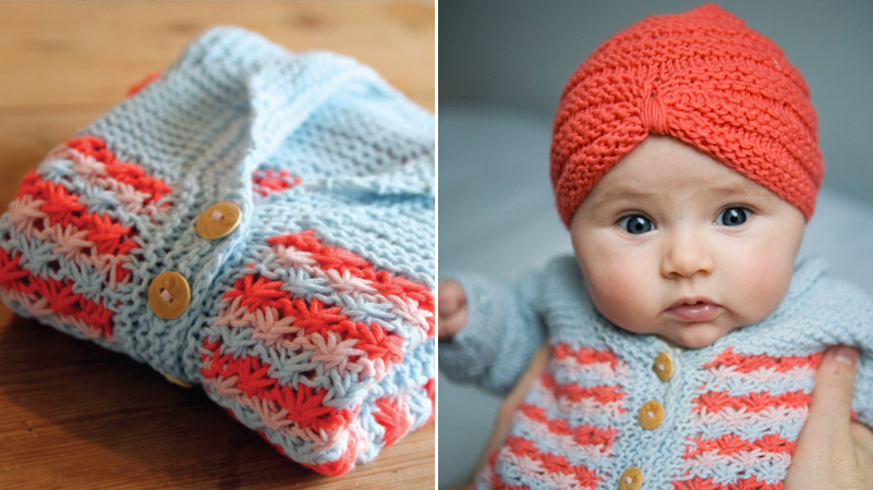 How-To: Baby Cardigan and Turban