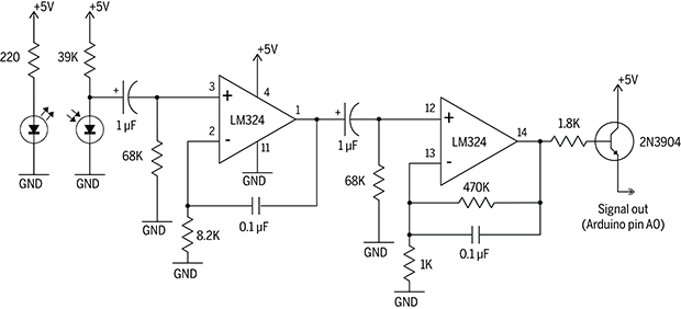 Schematic with symbolic op-amp representation.