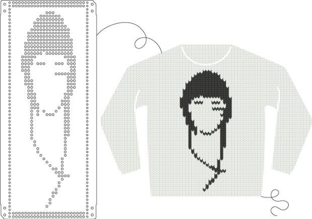 Create Knitting Machine Punch Cards With Oknitme Make