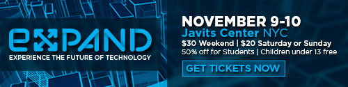 expand expreince the future of technology November 9-10 Javits Center NYC
