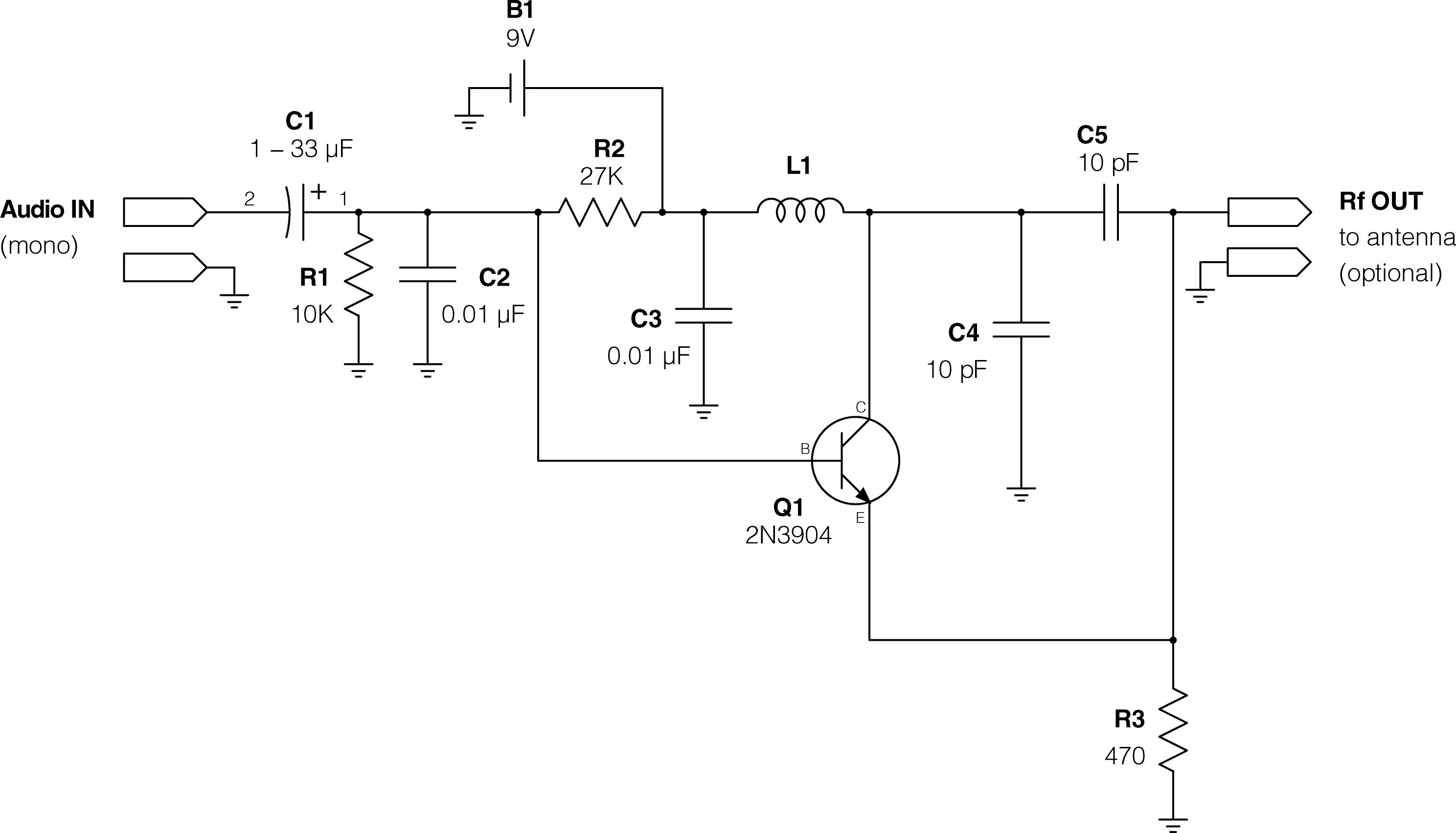 build a 9v wireless microphone fm transmitter super circuit diagram super simple ipod fm transmitter make build a 9v wireless microphone fm transmitter super circuit diagram