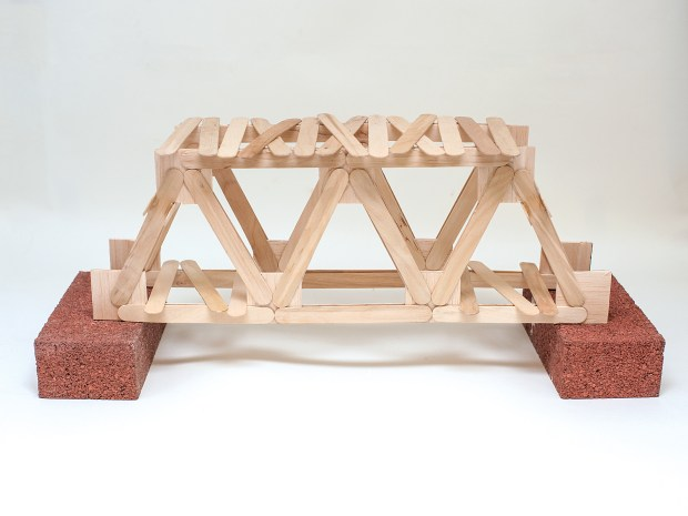 Make a Warren Truss Bridge with Popsicle Sticks