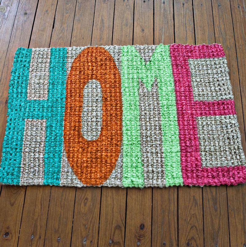 DIY handpainted doormat