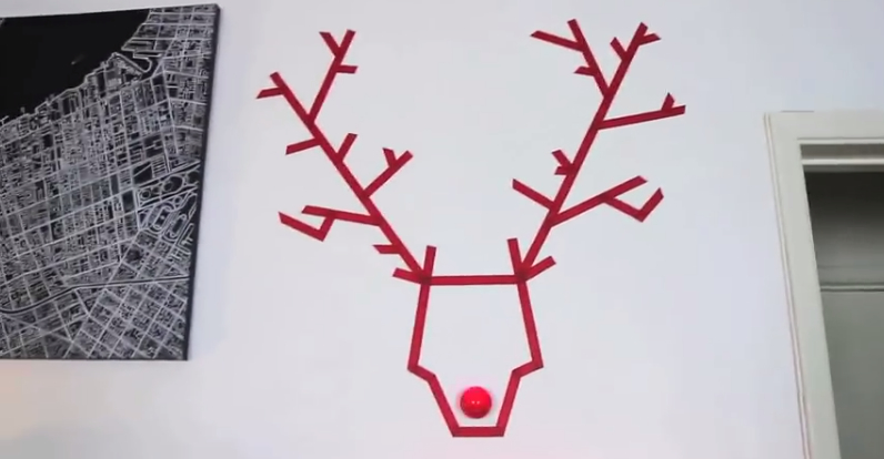 Washi Tape Reindeer