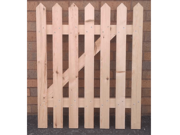 How To Make A Picket Fence Gate in about 30 Minutes