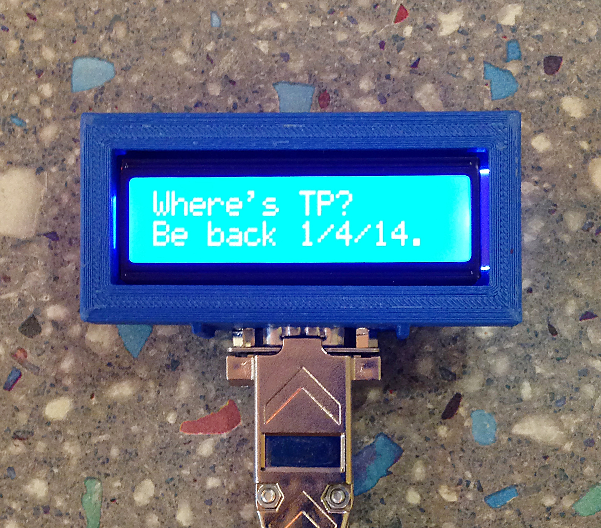 The Connected Office: Text Message-Based Remote Display | Make:
