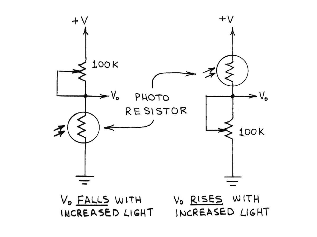 Amateur Scientist Experimenting With Light And Dark Sensors Make Simple Amplifier Circuit Build Electronic Circuits Photoresistors